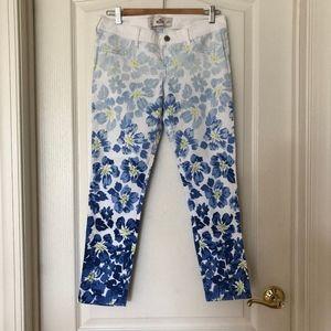 Hollister Blue Floral Pants NWOT